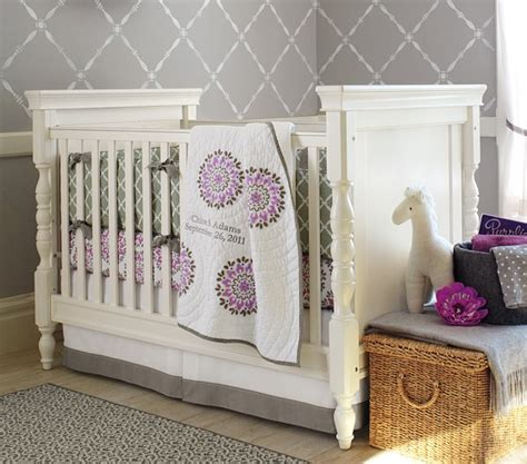 Dahlia Nursery Bedding Set Dahlia Baby Bedding Set Pottery Barn