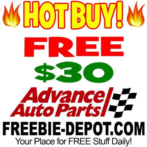 Does Advance Auto Parts Sell Gift Cards - hot deal gt gt gt free 30 off at advanced auto parts freebie depot