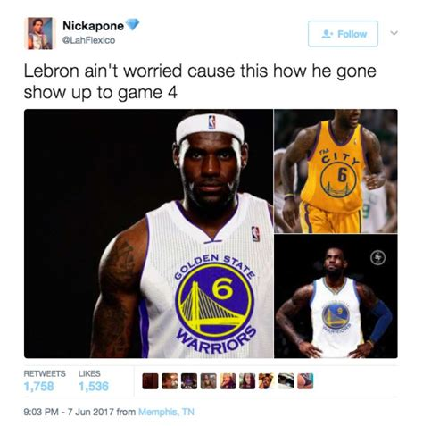 twitter lit up with memes after the warriors stunning