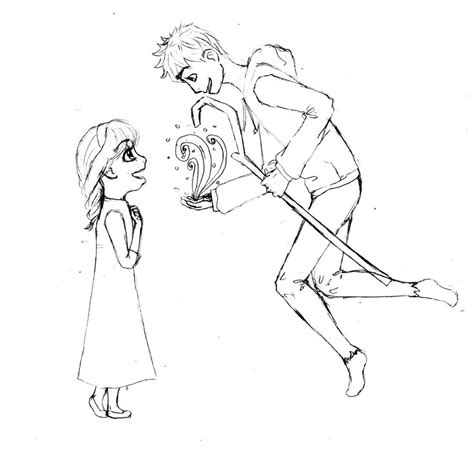 coloring pages elsa and jack jack frost free coloring pages
