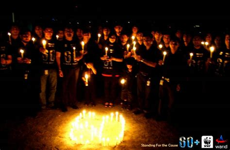 chagne celebration warid pakistan earth hour celebration 2011 xcitefun