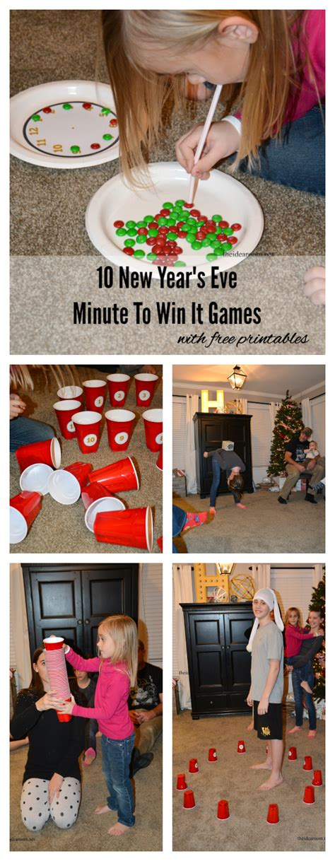 minute to win it 10 new years minute to win it the idea room