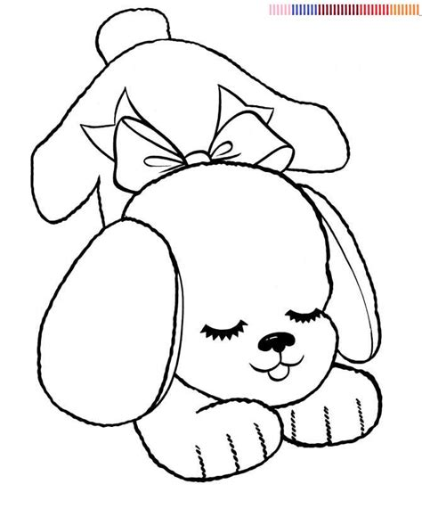 simple dog coloring page free coloring pages of easy dog