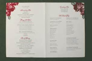 Of wedding program wordings and layouts from the wedding centre