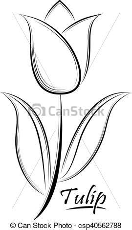 La Tulipe Contour dessin de tulipe maison design apsip
