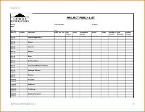 construction project punch list template to do list template