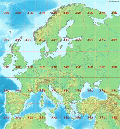 utm map sistema de coordenadas universal transversal de mercator