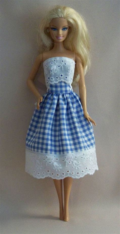 Handmade Clothes Patterns - handmade doll clothes blue gingham by