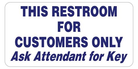 bathroom for customers only sign bathroom for customers only sign bathroom for customers