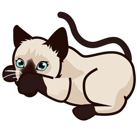 File:PEO-siamese kitten-5.svg - Wikimedia Commons Free Clipart Of Siamese Cats