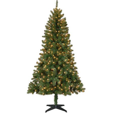 walmart christmas trees with lights time pre lit 6 5 tree green clear lights walmart