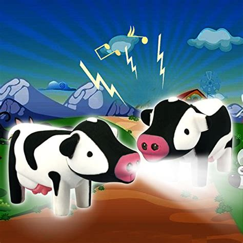cow keychain led light zzz pasture cartoon cow led keychain flashlight with sound