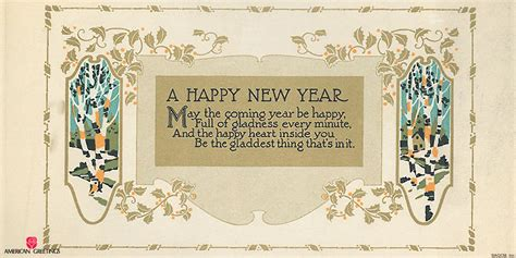 a happy new year 1924 vintage greeting card zazzle vintage new years cards american greetings archives