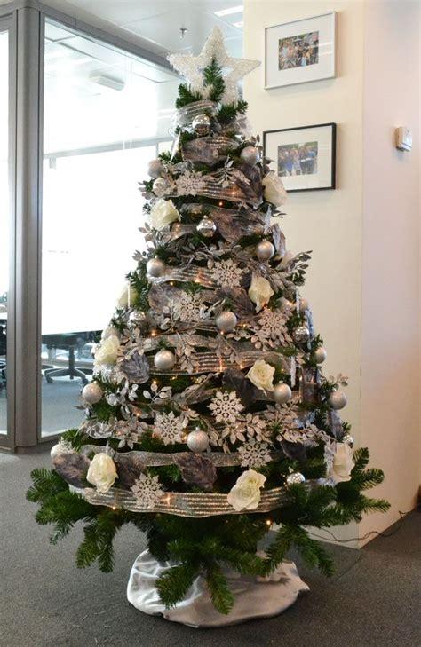 alquiler 225 rbol de navidad personalizado en plata y blanco