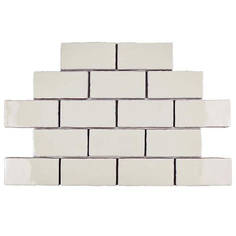 Grout Colors Merola Tile by Merola Tile Antic Craquelle White 3 In X 6 In Ceramic