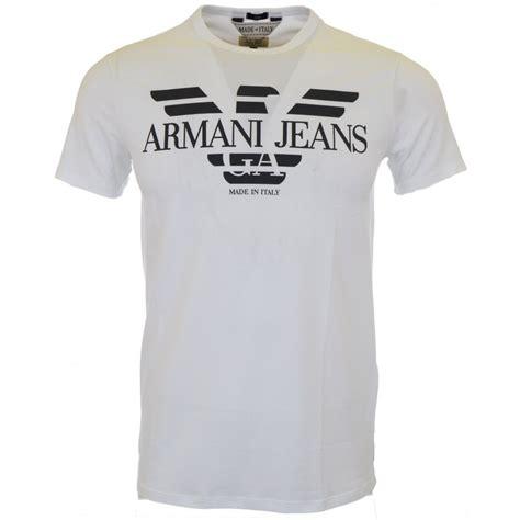 tshirt armani iii armani a6h06 stretch slim fit white t shirt armani