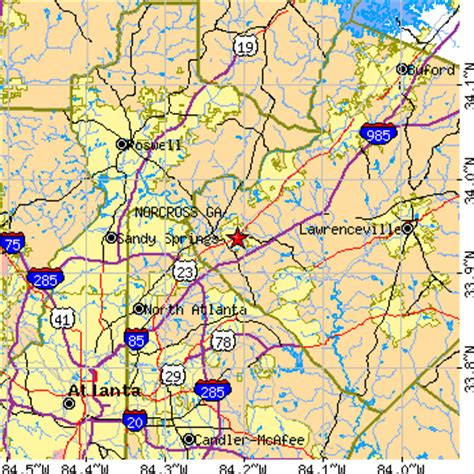 map of norcross norcross ga population data races housing