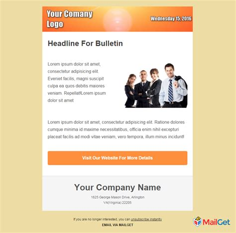 email bulletin template 10 free best business email templates mailget