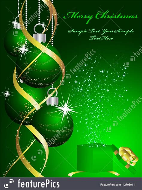 holidays green christmas background stock illustration   featurepics