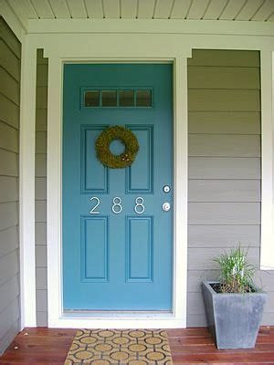 accent door colors house exterior grey and blue door love this but not sure