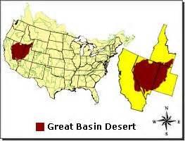 united states deserts map great basin desert desertusa