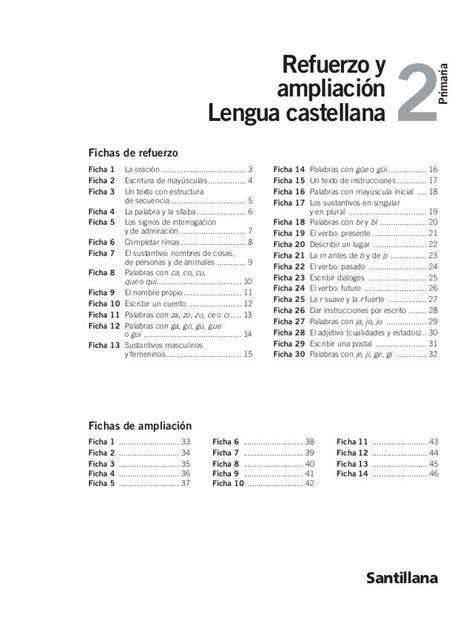 2 Refuerzo y Primaria ampliación Lengua castellana