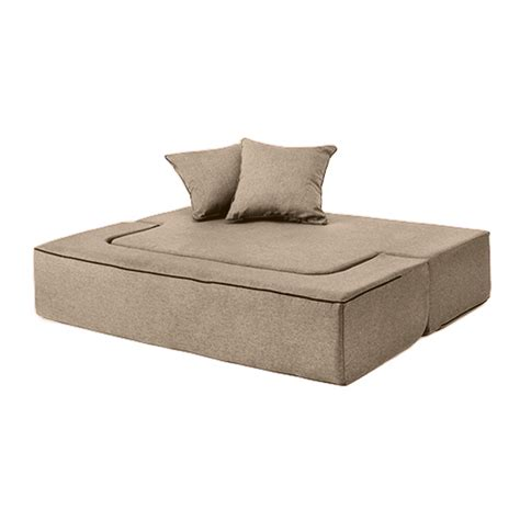 flip out sofa bed latte wool feel poppy easy fold out flip sofa bed foam