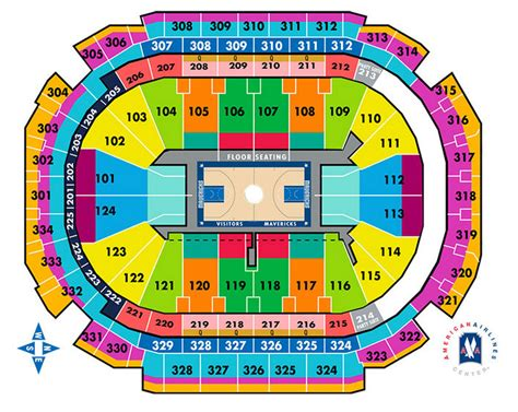 american airlines arena seating chart dallas dallas mavericks seating chart american airlines center