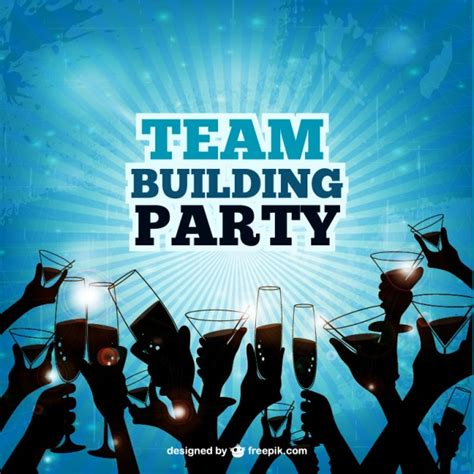 Team Building Party Vector Free Download Team Building Poster Template