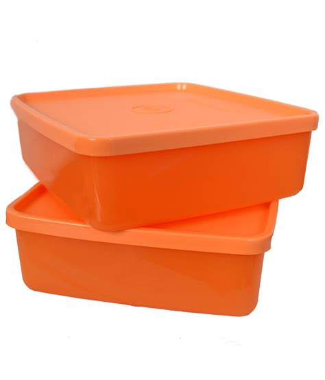 Tupperware Pack tupperware orange lunch square box pack of 2 buy