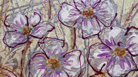 dipinti di fiori moderni fiori di lavanda e ranuncoli moderni vendita quadri