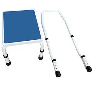 footstool with handrail adjustastep tm deluxe step stool footstool with handle