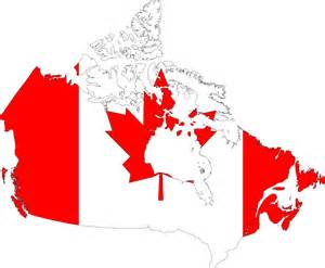 canada flag map clipart canada map flag