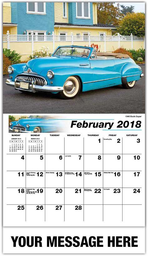 Calendar 2018 Car Gm Classic Cars Calendar 65 162 Vintage Car Promotional