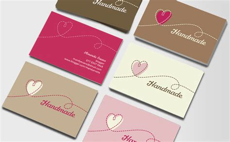 Handmade Business Cards Ideas - handmade crafts business cards