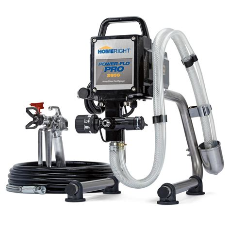 home depot airless paint sprayer reviews homeright power flo pro 2800 airless paint sprayer c800879
