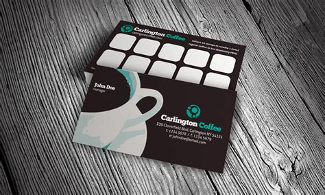 Loyalty Card Design Template modern cafeteria loyalty card template 187 free