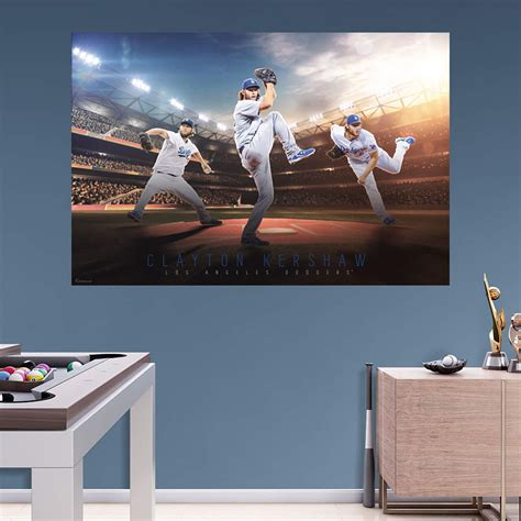 clayton kershaw montage mural wall decal shop fathead  los angeles dodgers decor