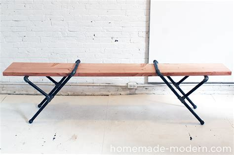 pipe bench diy blog stalking homemade modern vintage revivals