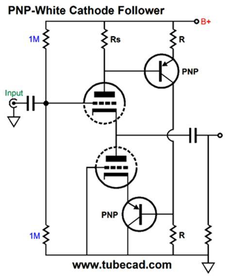 resistor type cathode variations on the theme of the white cathode follower