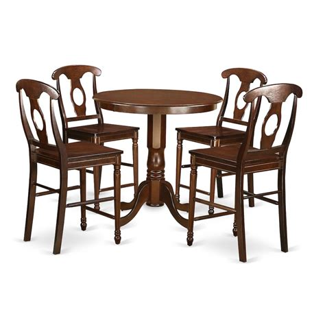 5 high top table set 5 pc pub table set high top table and 4 counter height