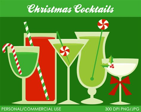 holiday cocktails clipart holiday martini clipart