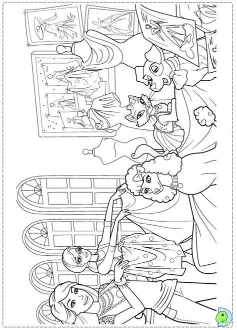 Barbie Fashion Fairytale Coloring pages for kids  DinoKids.org