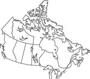 clear simple outlined map of canada s useful crap