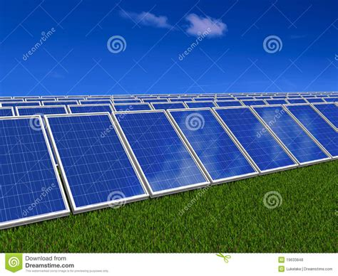 solar panels system green energy from sun royalty free