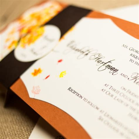 Unique Fall Wedding Invitations by Unique Fall Wedding Invitations Chic Shab