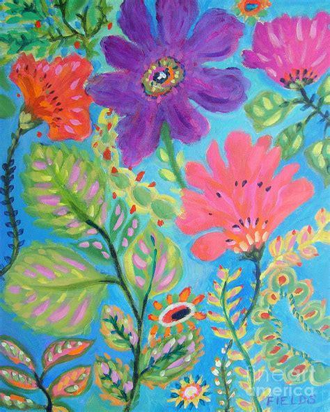 Joyful Garden by Joyful Garden Painting By Fields
