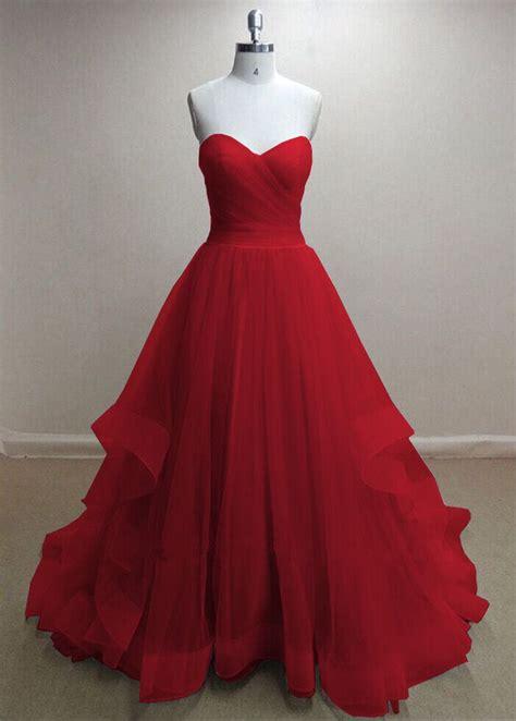 Handmade Prom Dresses - pretty handmade tulle sweetheart prom dresses