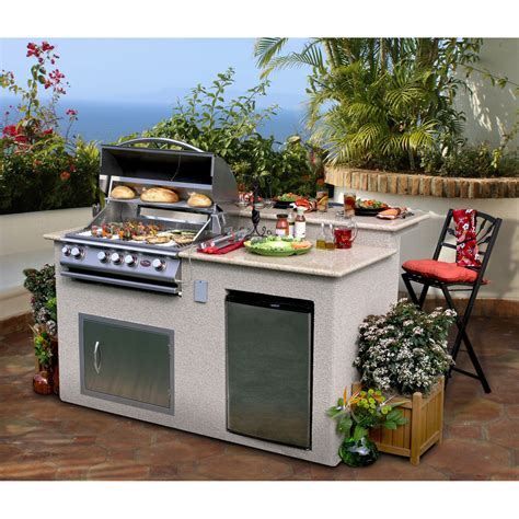 portable outdoor kitchen island cal outdoor kitchen 4 burner barbecue grill island