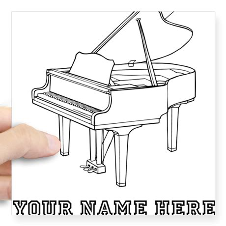 baby grand piano template custom baby grand piano sticker by awesomemusicgifts